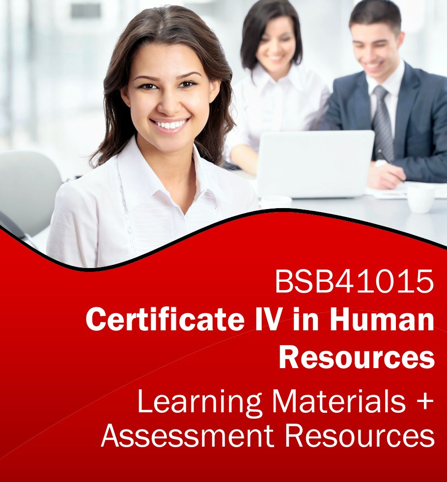Certificate IV in Human Resources Training Resources AND Assessment Tools- BSB41015 *BUNDLE*