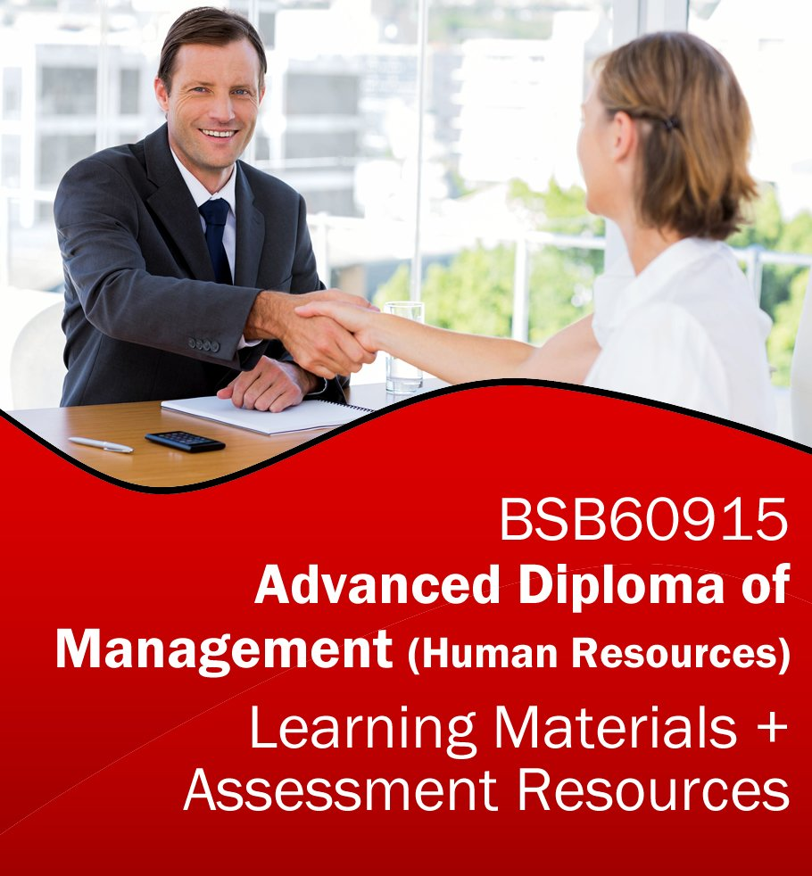 BSB60915 Advanced Diploma of Management (Human Resources) Learning and Assessment Tools Bundle