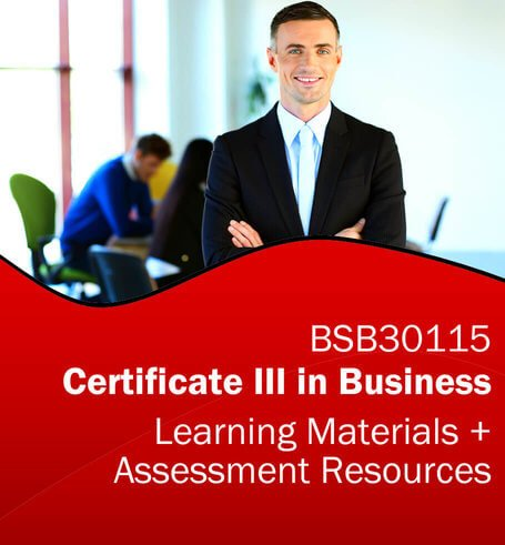 BSB30115 Certificate III in Business Learning and Assessment Tools Bundle