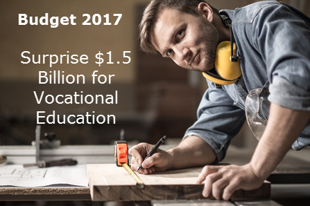 Unexpected $1.5 Billion in New Funding for Vocational Education in Australia – Budget 2017