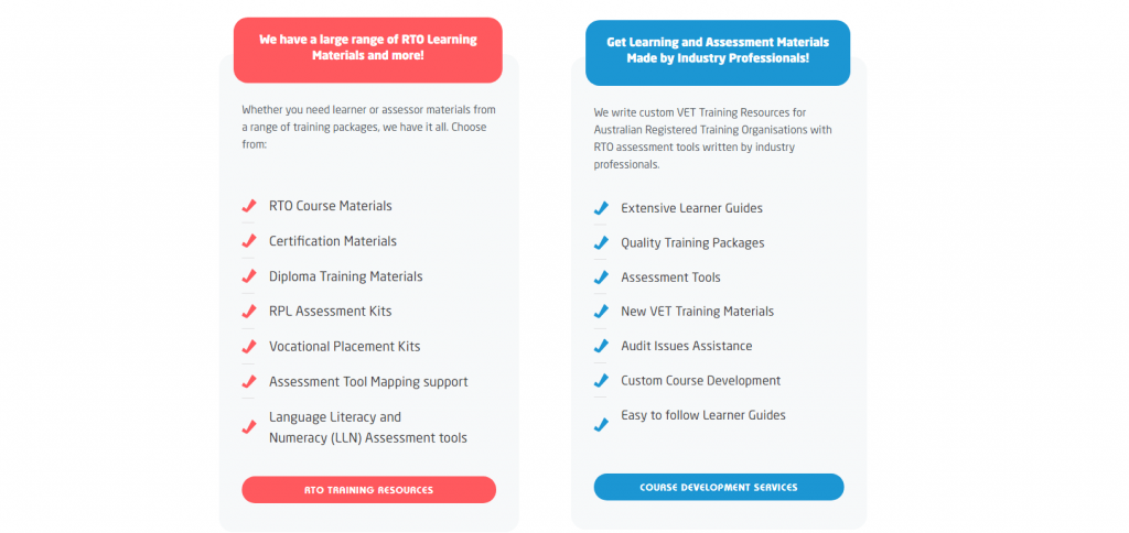 Homepage - Compliant Learning Resources Product Features