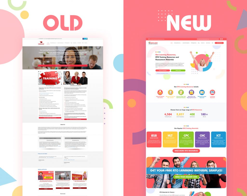 Old and New Compliant Learning Resources Website